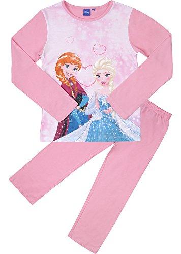Frozen Mädchen Schlafanzug aus Baumwolle EP2009 (Rosa/Rosa (2010), 4 Jahre-104) (Ausarbeitung Muster Von Hose)