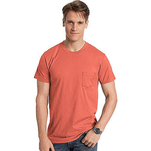 hanes-nano-t-mens-pocket-t-shirt-498p-l-vintage-orange