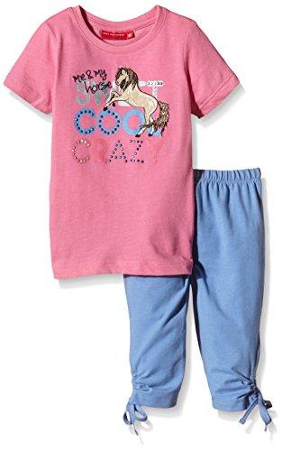 Crazy Horse T-shirt (SALT AND PEPPER Mädchen Bekleidungsset Set Horses cool crazy, Mehrfarbig, Gr. 92 (Herstellergröße: 92/98), Mehrfarbig (candy pink mel indigo blue mel 803-407))