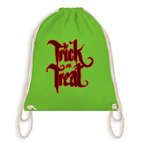 Halloween - Trick or Treat Halloween Typo - Turnbeutel I Gym Bag Hellgrün