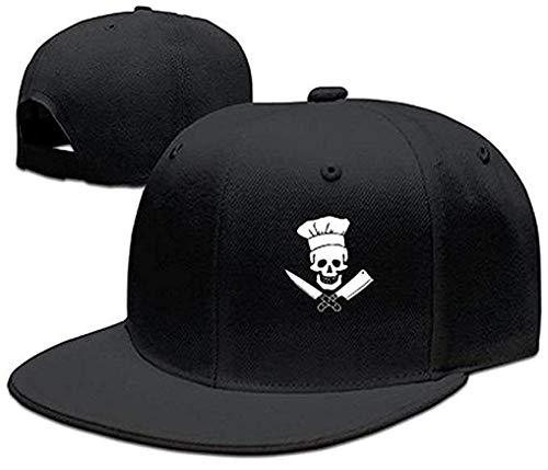 Skull-Chef Cking Skull Hat Grill Master Unisex Style Strapback Hat Baseball Cap JH4016