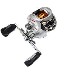 Skysper® Carrete Profesional Ultra-vertiginoso MáX Perfil Bajo Baitcasting Fishing Reel Carrete de Pesca para Diestros