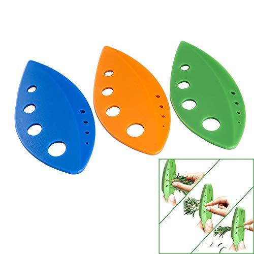 Pelador de hierbas de hojas, agujeros de plástico sin BPA, separador de hojas de verduras, herramienta para pelar, verdes de collar, Kale, albahaca, verde hoja