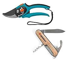 Gardena Handgrasschere Limited Edition mit Taschenmesser