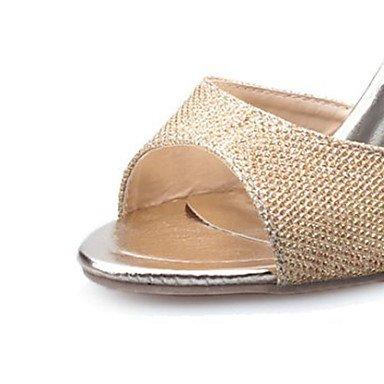 LvYuan Sandali-Formale Casual-Comoda-A stiletto-PU (Poliuretano)-Bianco Argento Dorato Gold