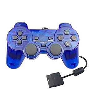 2019 Neuestes !!! Durchsichtiger transparenter PS2 Game Controller, Bloodfin Joystick Trigger Sensitive Shoot Aim Joysticks Gamepad Handy Shooter Zubehör für Sony Playstation 2 Playstation 2