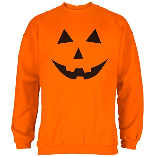 Halloween Jack-O-Lantern Kostüm Classic Gesicht Mens Sweatshirt Safety Orange MD (Halloween Gesichter Jackolantern)