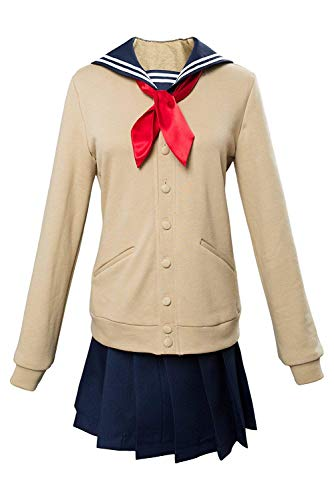 I TRUE ME Boku No Hero Academia My Hero Academia Himiko Toga Cosplay Kostüm Cross My Body Outfit Beige,L