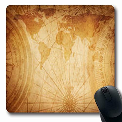 Luancrop Mousepads Design Alte Karte Decoupage World Diese Wissenschaft Europa Oblong Gaming Mouse Pad rutschfeste Gummimatte -