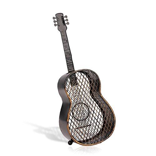 Tooarts Gitarre Deko Skulptur Dekofigur aus Eisen als Flaschenkorken Behälter