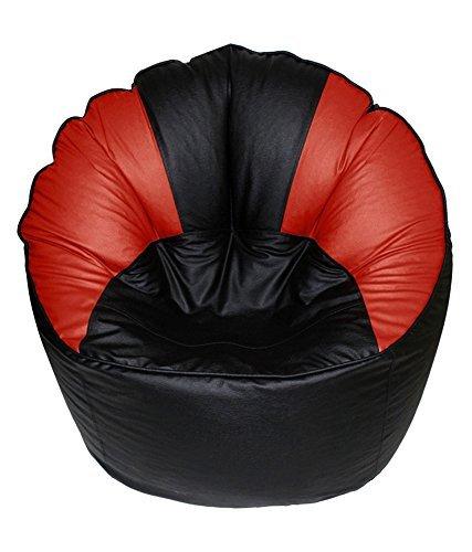 Signature Rot Leder (Cozy Signature sitzsacküberzug schwarz & rot ohne sitzsofa aus Leder Glattleder große sofasessel sitzsack)