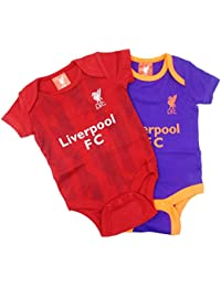 6e3d4ddfa Official Liverpool Football Club New Season Home   Away Kit Twin Pack  Bodysuit Baby Grows Size