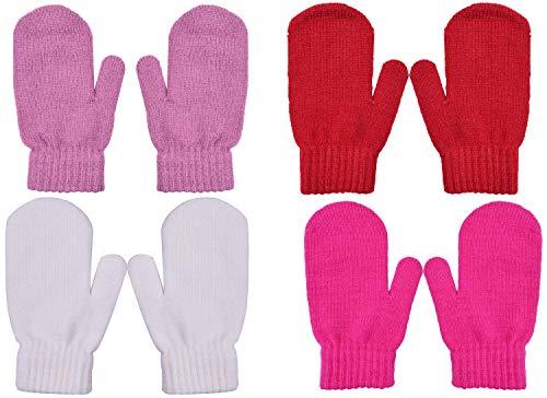 Wooly Bugged Kinder Winter Fäustlinge Stricken Handschuhe Warm Wolle Lila, Rot, Weiß, Rosa, S Warme Wolle Handschuhe