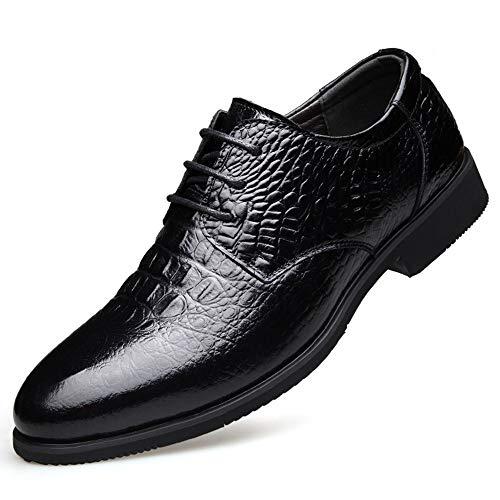 The only good quality Neuheit Oxford Herrenschuhe Spitze Stil Mode Geprägte Leopardenmuster Business Casual Leder Schuhe Herrenschuhe Hochzeitsfest Party (Farbe : Black, Size : 39 EU) -