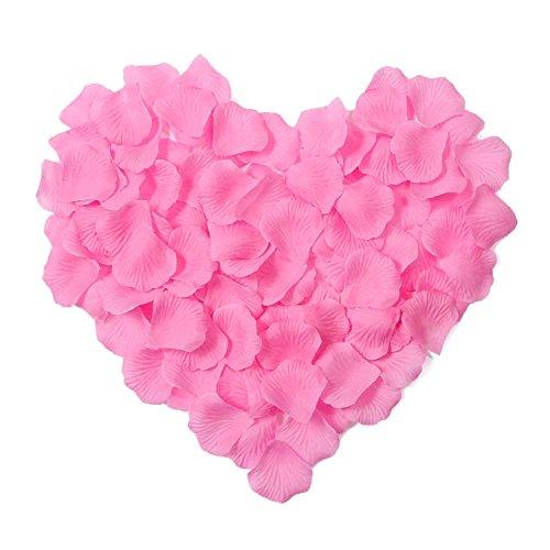 2000 rosenblätter hochzeitsblumen zier künstliche rose red blütenblätter hochzeit schmücken vase dekoration familie braut dekoration.pink