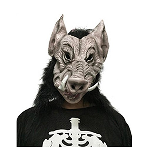 Wildschwein Halloween Maske, Scary Gesichtsmaske Halloween Karneval Weihnachtsfeier -