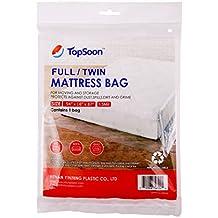 TopSoon Bolsa de Colchón Impermeable Plástico Transparente 137 x 221 ...