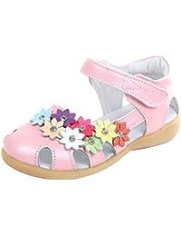 Y-BOA Sandales Princesse Bébé Fille Scolaire Fleur Souple Chaussure Ville Été Voyage Plage