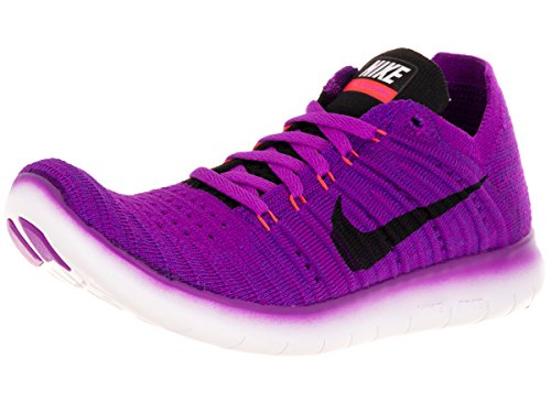 Nike Damen Wmns Free RN Flyknit Laufschuhe, Blau (Hypr Vlt/Blk-Ttl Crmsn-Lsr ORN), 41 - Nike Damen Laufschuhe Lila