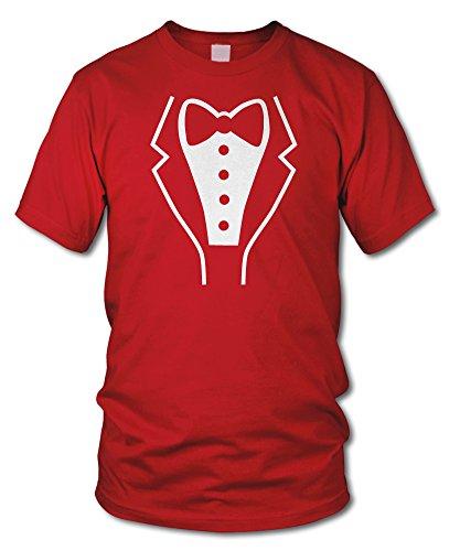 shirtloge - SMOKING - Kult T-Shirt - in verschiedenen Farben - Größe S - XXL Rot (Weiß)
