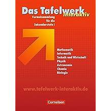 Das Tafelwerk interaktiv - Allgemeine Ausgabe: Schülerbuch