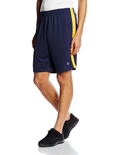 Champion–Pantalone corto da uomo, colore: nero e giallo, taglia XXL, 209672_S16, Uomo, Bermuda, Black Iris/Old Gold, XL