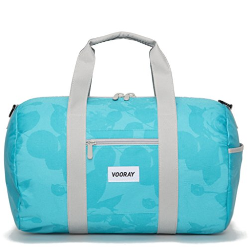 vooray-roadie-23l-small-gym-duffle-bag-mint-floral