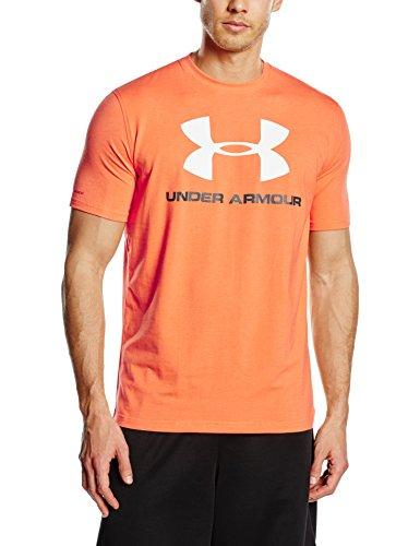 Under Armour T-Shirt Da Uomo Sportstyle Logo Arancione 1257615, Taglia:Xl
