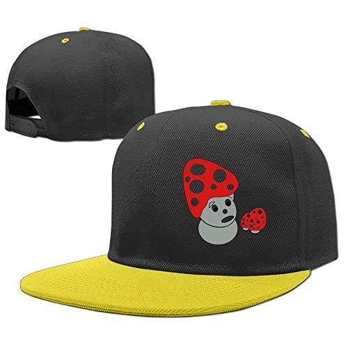 ewtretr Baseball Cap Hip Hop Hats Scary Cute Mushrm Adjustable Unisex Suitable for All Seasons Jordan Stretch-cap