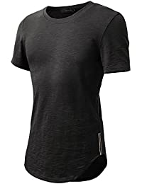 HEMOON Herren O-Neck T-Shirt Shaped Raglan Slim Rundhals