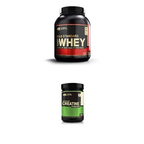 Optimum Nutrition Gold Standard Whey Strawberry 2.27kg with Creatine 317g