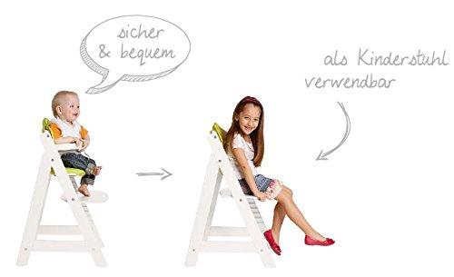 roba Treppenhochstuhl Sit Up III, mitwachsender Hochstuhl vom Babyhochstuhl bis zum Jugendstuhl, Holz, naturfarben - 6