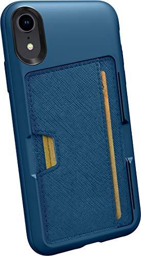 Silk Apple iPhone XR Wallet Hülle - Q Kreditkartentasche [Schlanke Schutztasche mit Kickstand CM4 Grip Cover] -