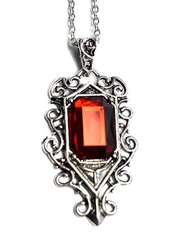 Beaux Bijoux Isabelle Lightwood Pendentif vintage en rubis inspiré de The Mortal Instruments: La Cité des ténèbres