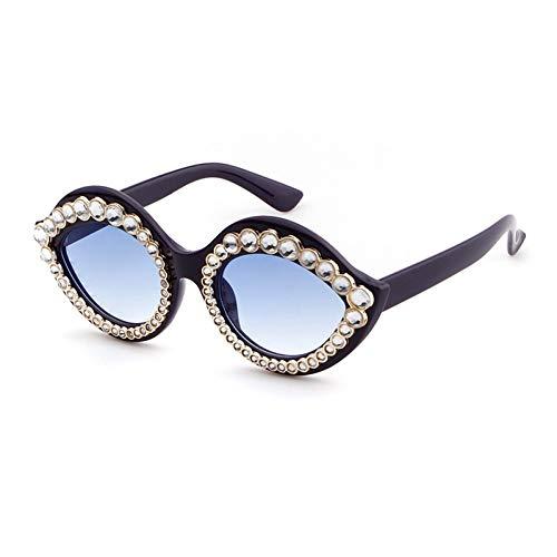 SYQA Sonnenbrille Perle Sonnenbrille Für Frauen Markendesigner Cat Eye Farbverlauf Gläser Spiegel Objektiv Unisex Eyewears,C2