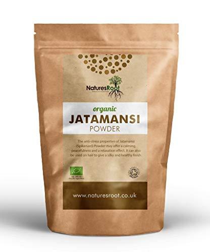 Natures Root Bio Jatamansi Pulver 250g - 100% Reines Nardostachys Jatamansi | Himalaya Baldrian | Fördert die innere Ruhe -