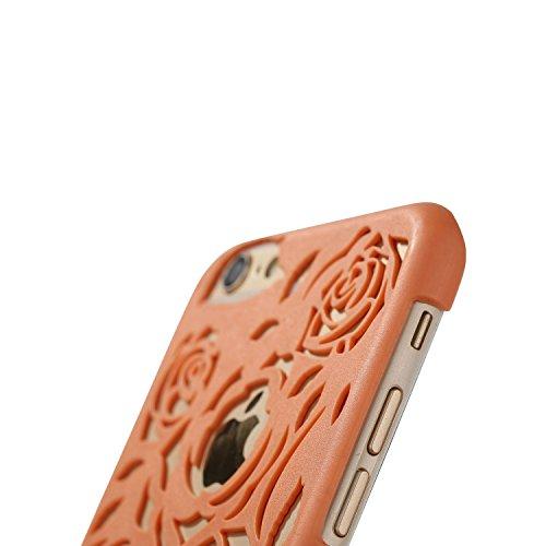 Case for iPhone 6/6S Rose Hollow Out Design PC Hard Case for Apple iPhone 6/6S - Blue Orange