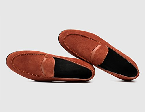 Scarpe Uomo in Pelle Scarpe casual da uomo in pelle color nubuck smerigliato da uomo primavera scarpe casual da uomo stile marea ( Colore : Marrone , dimensioni : EU40/UK6.5 ) Marrone