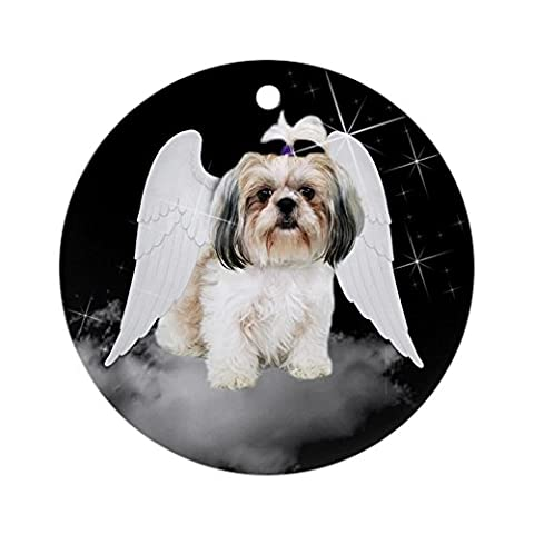 CafePress - Angel Shih Tzu Ornament (Round) - Round Holiday Christmas Ornament