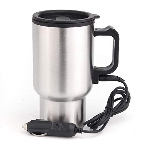 12 V 450 ml Edelstahl Wasserkocher Auto Topf Wasser Auto Elektrische Heizung mit Kabel COD