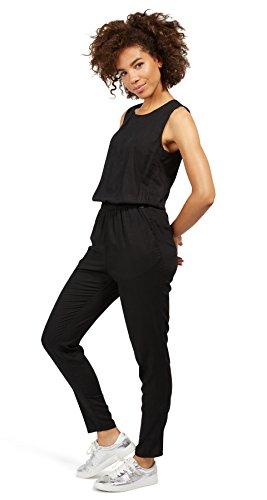 TOM TAILOR Denim Damen Solid Jumpsuit, Schwarz (Black 2999), 38 (Herstellergröße: M) - 3