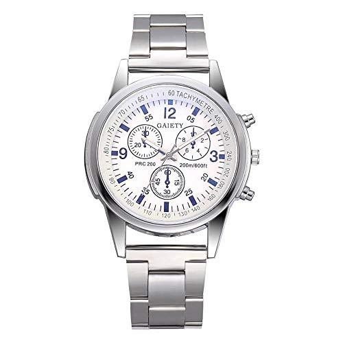 HEATLE Uhr Ansehen 1PC Gute Qualität Armband Verschluss Für Gaiety Fashion Men's Steel Belt Analoge Sport-Quarz-Armbanduhr Taschenuhrenketten Uhrenarmbänder (1PC, Weiß)