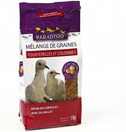 Paradisio : Mélange De Graines Tourterelles,colombes:1kg