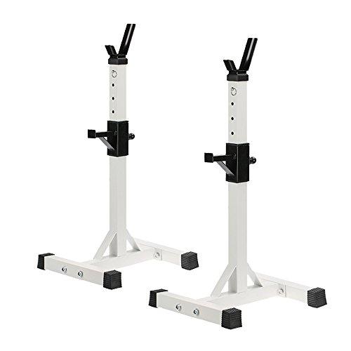 Docooler Coppia di Porta Bilanciere Regolabile Standard Solido Acciaio Staccabile per Fitness Exercise128 - 148cm