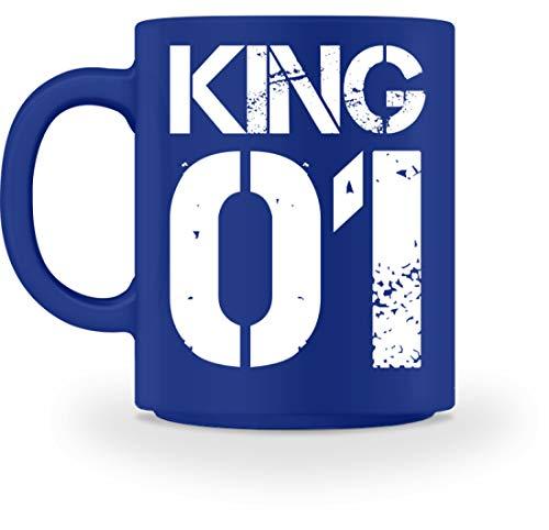 Kostüm Baby King Royal - King 01 Kaffeetasse Für Den Vater - Paar Oder Familie Partnerlook - Tasse -M-Royal Blau