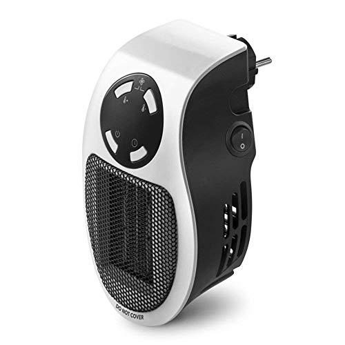 Queta–Calefactor de enchufes |mini de calefacción | calefactor eléctrico | 500W potencia de calentamiento para habitaciones de hasta 10m²/20M³, Blanco