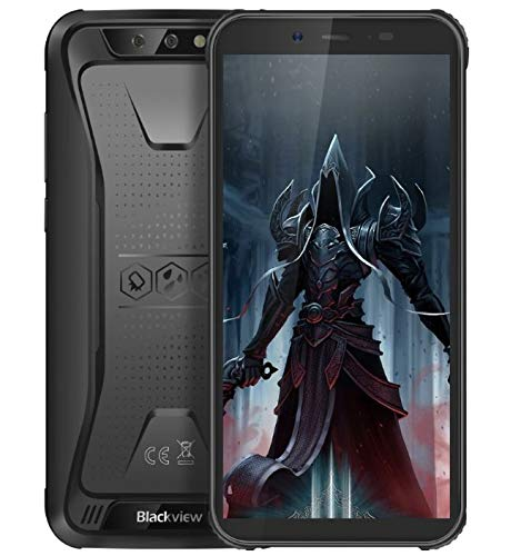 "Blackview BV5500 Pro Robustes Telefon Android 9.0 Outdoor-Smartphone Ohne Vertrag, IP68 wasserdicht 4G Dual-SIM-Handy, 5,5\""HD + Quad-Core 1,5 GHz 3 GB + 16 GB 5MP+8MP, 4400 mAh Akku GPS/NFC Schwarz"