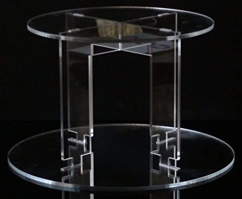 Classikool Stunning TK Round Acrylic Cake Stand with Clear, White or Black Tiers: Choice of 2 Tiers to 7 Tiers [*FREE UK Post] (2 Tier,