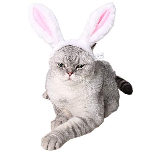 y Ears Headband für Dogs Cats Pet Halloween Weihnachten Ostern Party Kostüm-Haupt Zubehör, Weiß & Pink,Pink,S ()