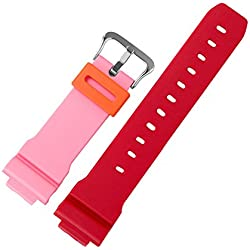 Zhuhaixmy Resin Watch Band Belt Strap Wristband Band Wire for Casio Men's DW-5600PR-4D